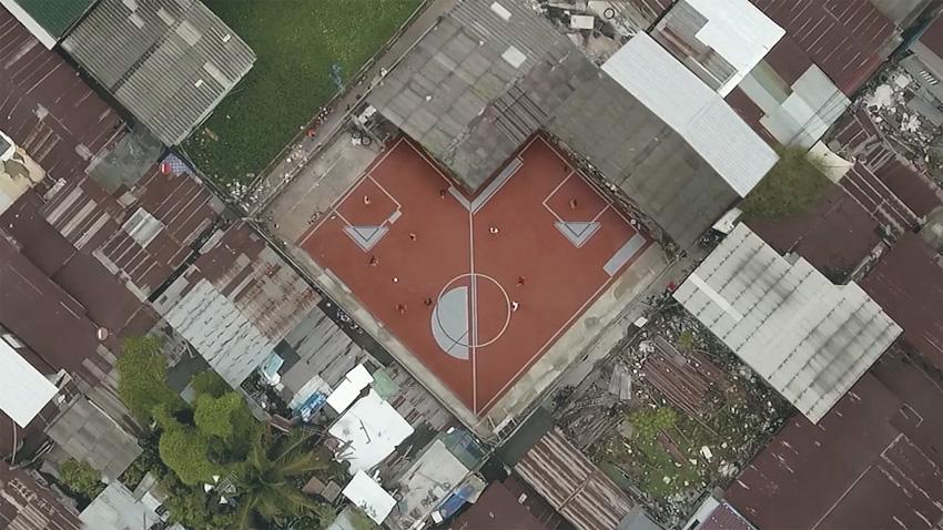 Idea Behind the Unusual Football Field