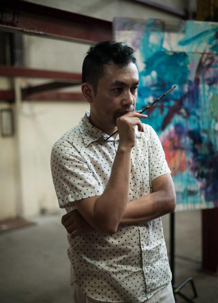 จากเสียงดนตรีถึงผืนผ้าใบ 'POD ART' ผลงานใหม่ของ ป๊อด-ธนชัย อุชชิน