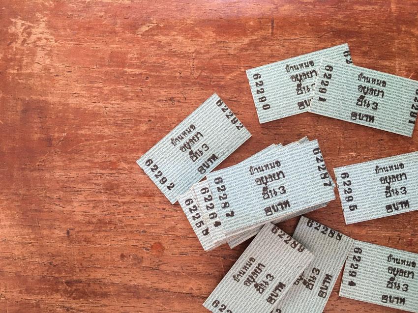 ตั๋วรถไฟ