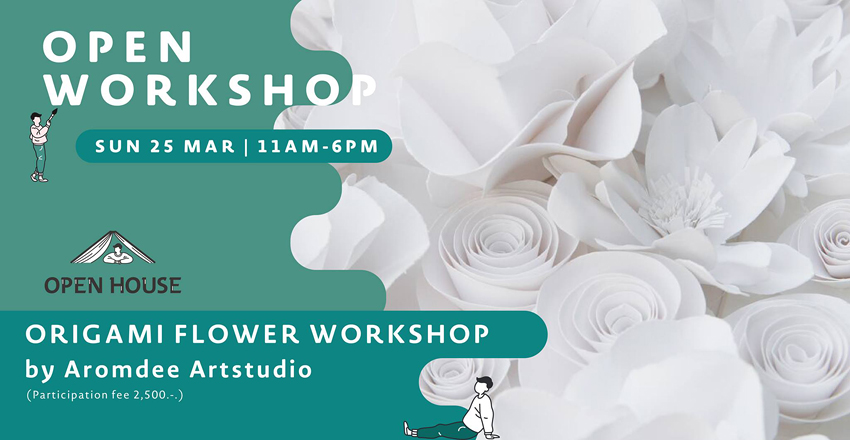 Origami Flower Workshop by Aromdee Art Studio