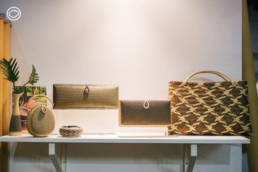 กระเป๋าจักสานไม้ไผ่