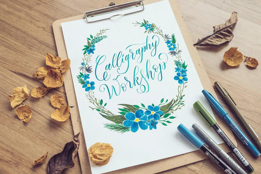 Draw Your Dream Garden/ Modern Brush Calligraphy