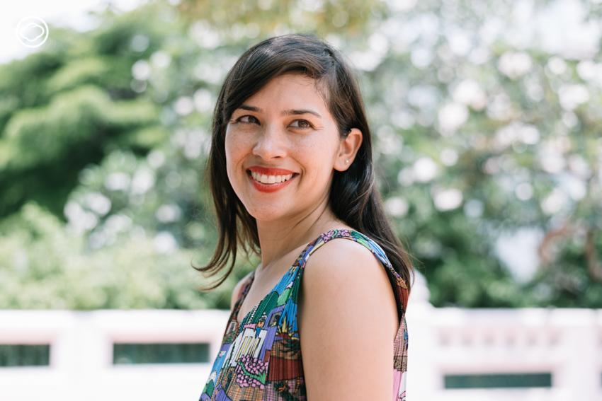 คุณใหม่-สิริกิติยา เจนเซน ผู้อำนวยการโครงการ 'นิทรรศการวังน่านิมิต'