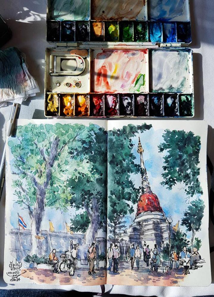 Urban Sketcher นักวาดภาพเมืองที่จะทำให้หลงเสน่ห์และตกหลุมรักเมืองกรุงอีกครั้ง