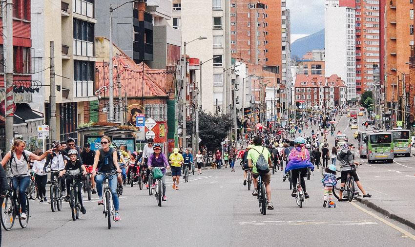 โคลอมเบีย, ปั่นจักรยาน, Ciclovia