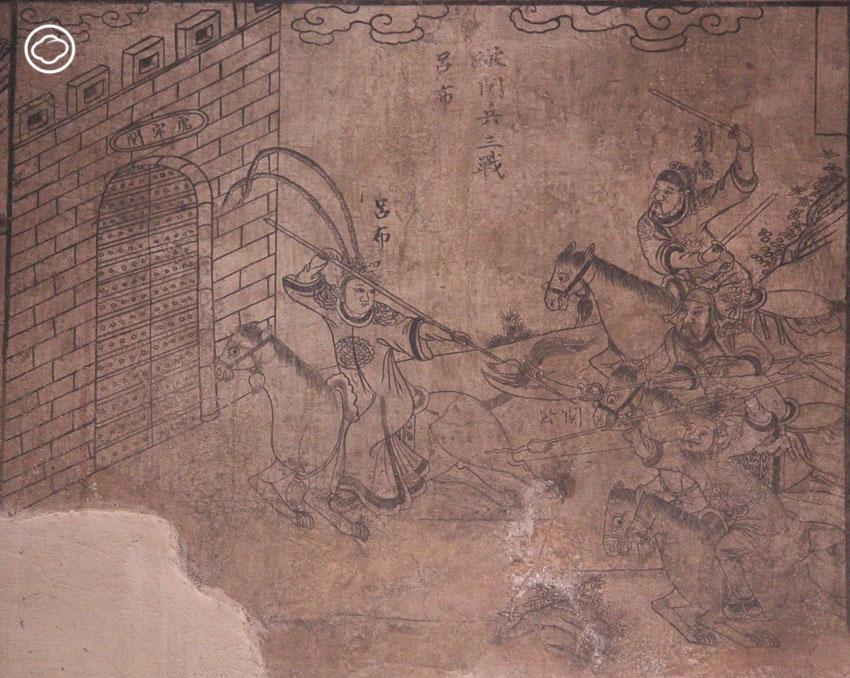 วัดประเสริฐสุทธาวาส, จิตรกรรม, สามก๊ก, วัดไทย