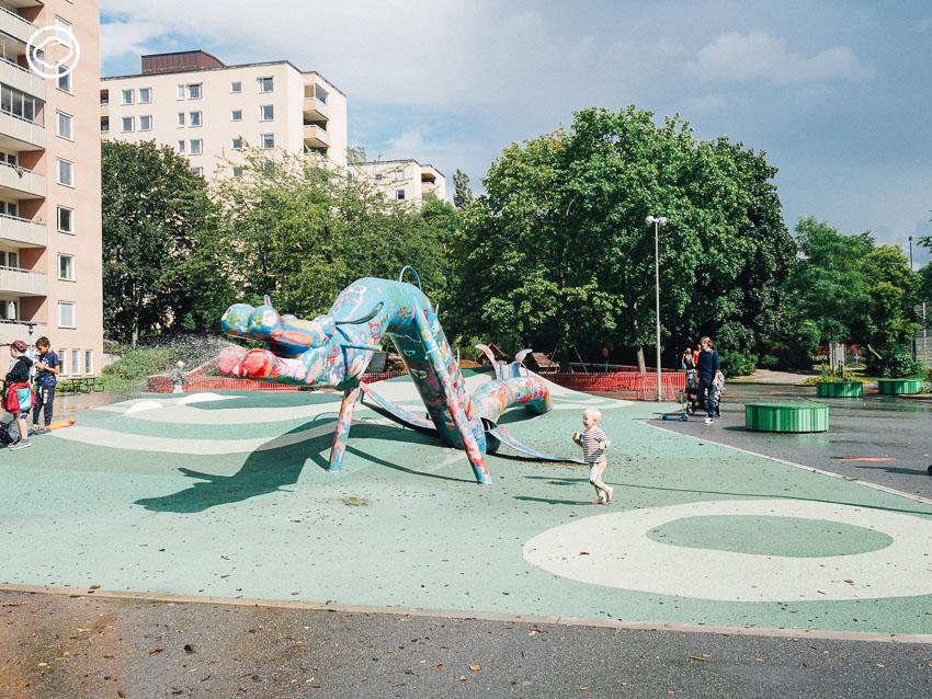Parkleken Draken, Drakenbergsgatan Park, สนามเด็กเล่น, ยุโรป, สตอกโฮล์ม, สวีเดน, เด็ก, สวนสาธารณะ