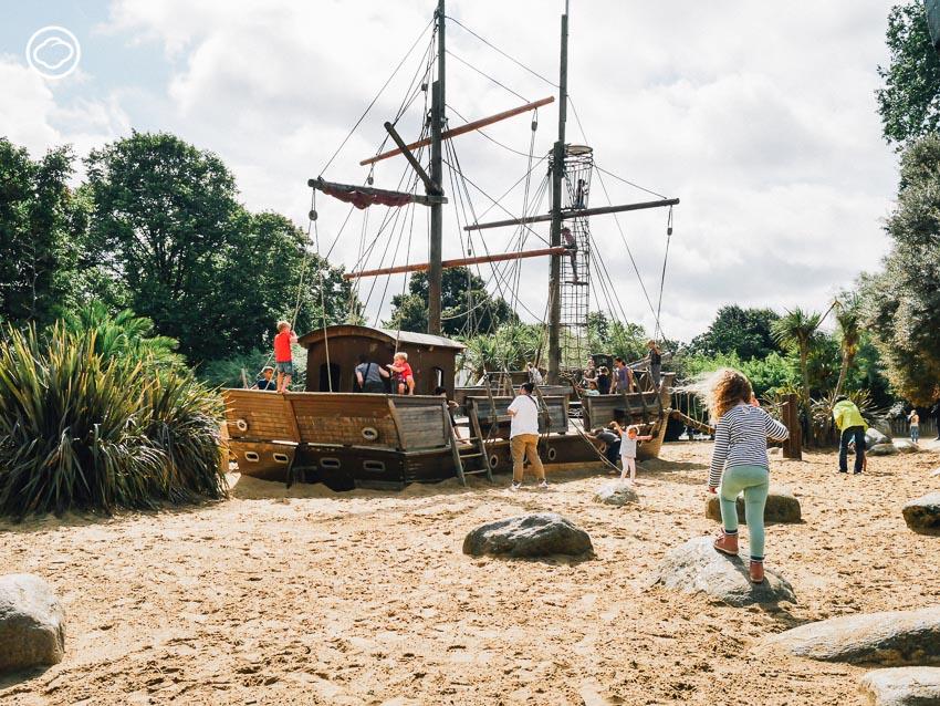 เรือ, สนามเด็กเล่น, สวนสาธารณะ, เด็ก, ต่างประเทศ, Diana Memorial Playground, ลอนดอน, อังกฤษ, Kensington Gardens,