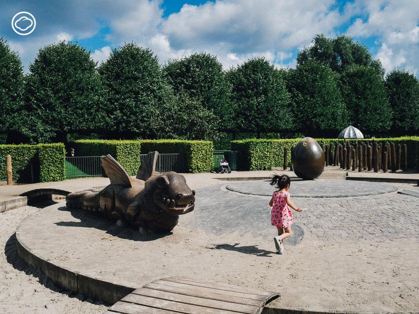 สนามเด็กเล่น, สวนสาธารณะ, เด็ก, ต่างประเทศ, The King's Garden Playground, โคเปนเฮเกน, เดนมาร์ก, Dragon Playground, ชื่นใจ ภูมิรัตน