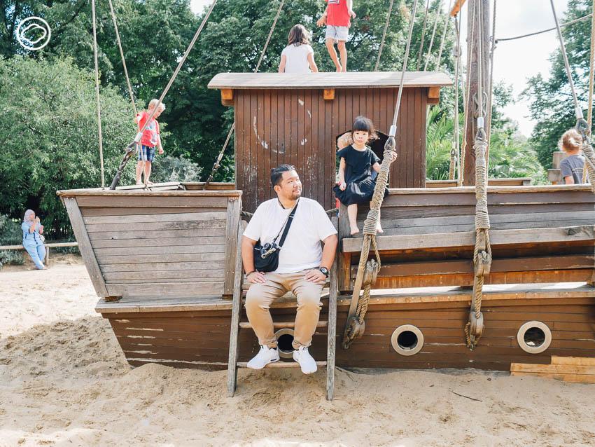 เรือ, สนามเด็กเล่น, สวนสาธารณะ, เด็ก, ต่างประเทศ, Diana Memorial Playground, ลอนดอน, อังกฤษ, Kensington Gardens, ชื่นใจ ภูมิรัตน, บอย, ตรัย ภูมิรัตน