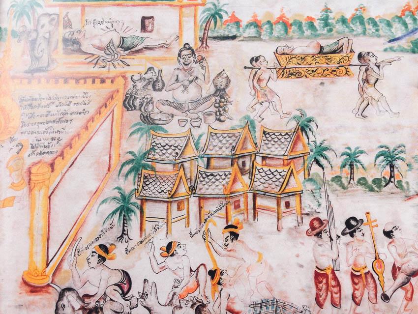 ผ้าผะเหวด, ช่างเขียนภาพ, ผ้าพิมพ์, พิพิธภัณฑ์อารยธรรมเอเชีย สิงคโปร์, จิตรกรรม