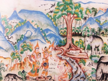 การสำรวจแดนอีสานจนค้นพบเรื่องราวของผู้วาดผ้าผะเหวดที่ได้เดินทางไกลไปอวดโฉมยังสิงคโปร์