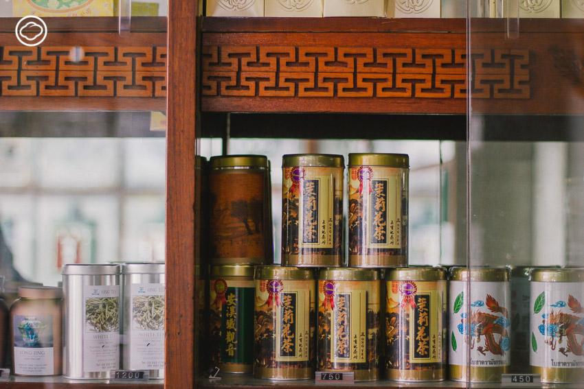 ห้างใบชาอ๋องอิวกี่, เสาชิงช้า, ถนนเขื่อนขัณฑ์นิเวศน์, จีน, ร้าน, นพพร ภาสะพงศ์, ชา, พระตำหนักจิตรลดารโหฐาน