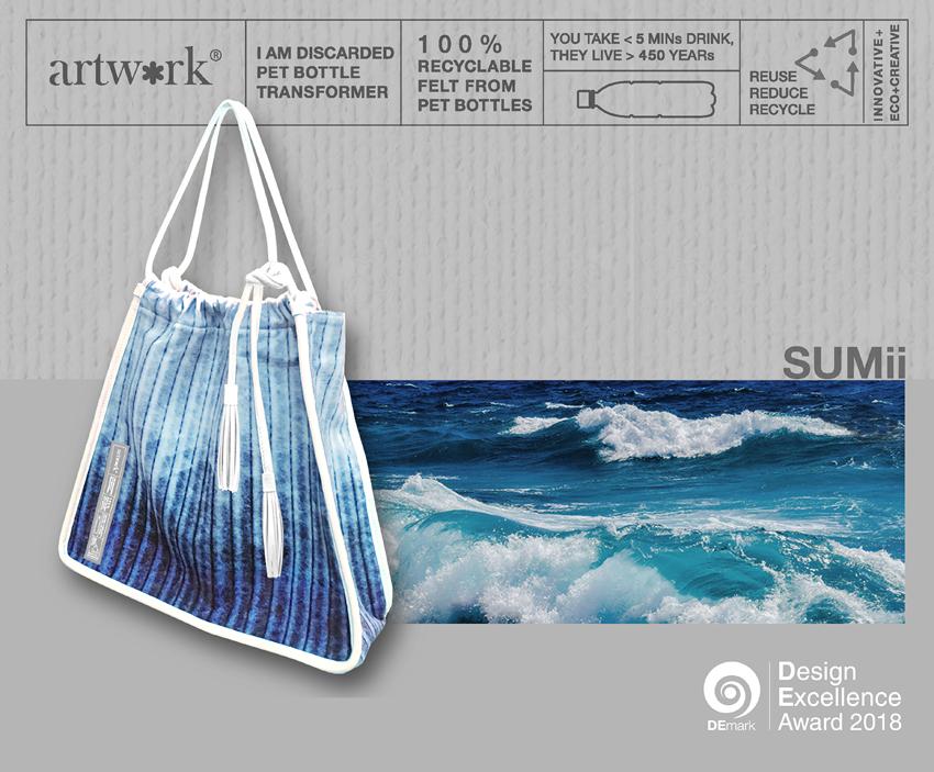 SUMii, กระเป๋าผ้า, ขวดพลาสติก, รีไซเคิล, ARTWORK