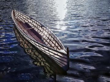 ชวนลูกเรียนรู้ผ่านการสร้างเรือแคนูจากไม้ เชือก และผ้า