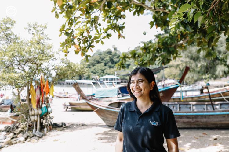 ตุ๊ก–เสาวลักษณ์ ประทุมทอง ตัวแทนสมาคมรักษ์ทะเลไทย