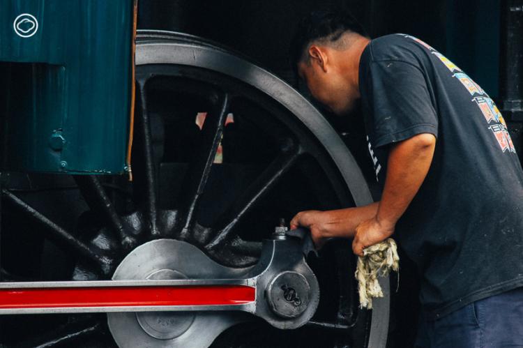 การทำความสะอาดรถจักรไอน้ำ