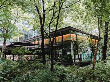 การออกแบบพื้นที่สีเขียวใจกลางย่านธุรกิจของญี่ปุ่นที่ทำให้นกและผีเสื้อบินไปมาระหว่างสวนได้