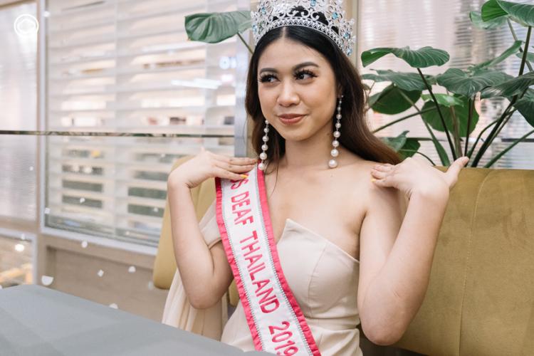 ปุ๊กกี้-กาญจนา พิมพา นางงามหูหนวกเอเชียหรือ Miss deaf Asia 2019