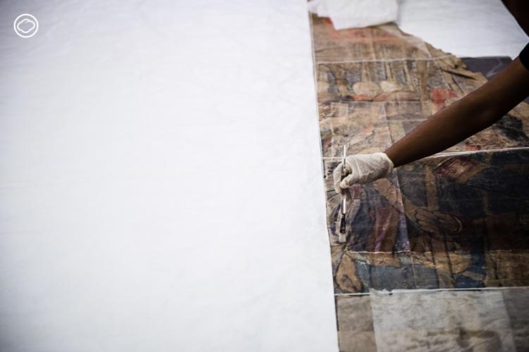 นักวิทยาศาสตร์และศิลปินจับมือกัน การบูรณะภาพพระราชพิธีบรมราชาภิเษกของ ร.6 ฝีมือ กาลิเลโอ คีนี