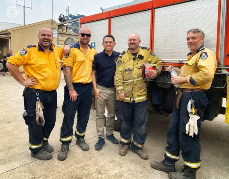 บันทึกเรื่องเจ้าหน้าที่ผจญเพลิงและอาสาสมัครดับไฟป่าระดับหายนะที่ออสเตรเลีย