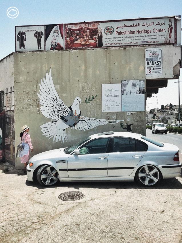 ตามล่าหาภาพวาดของ Banksy ที่กำแพงล้อมเมืองปาเลสไตน์
