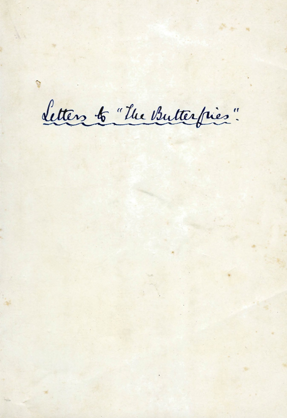 Letter to the Butterflies ที่พระบาทสมเด็จพระมงกุฎเกล้าเจ้าอยู่หัวทรงพระราชนิพนธ์