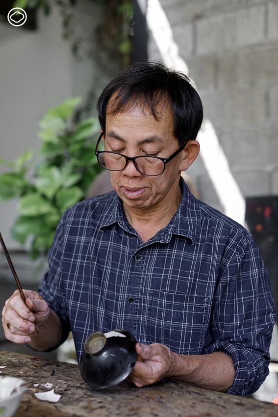 มานพ วงศ์น้อย ผู้ฉีกภาพช่างรักพื้นบ้าน ทำเครื่องรักด้วยศาสตร์ลูกผสมญี่ปุ่น-ฝรั่งเศส