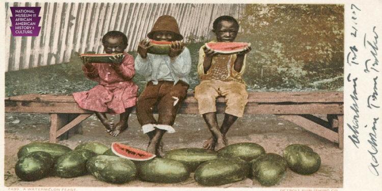 แตงโม ผลไม้รสหวานฉ่ำที่เป็นความขมขื่นของคนผิวสีในสหรัฐอเมริกา, การเหยียดสีผิว