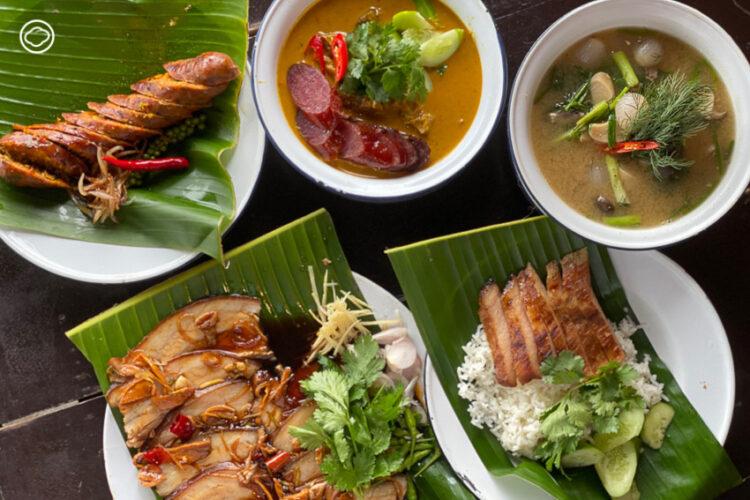 การผสมผสานอาหารบ้านๆ รสไทยนิดจีนหน่อย เป็นเมนูง่ายแต่อร่อยของ 'ร้านคอหมูพระรามห้า', คอหมูย่าง