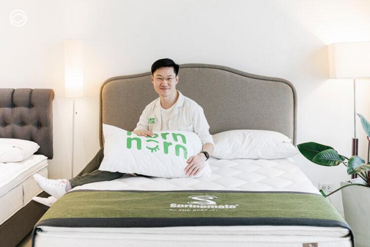 การต่อยอดธุรกิจที่นอนอายุ 91 ปีของทายาทรุ่น 4 ด้วยสตาร์ทอัพให้เช่าที่นอนเดือนละ 65 บาท, Springmate, นอนนอน, ที่นอนแบรนด์สปริงเมท