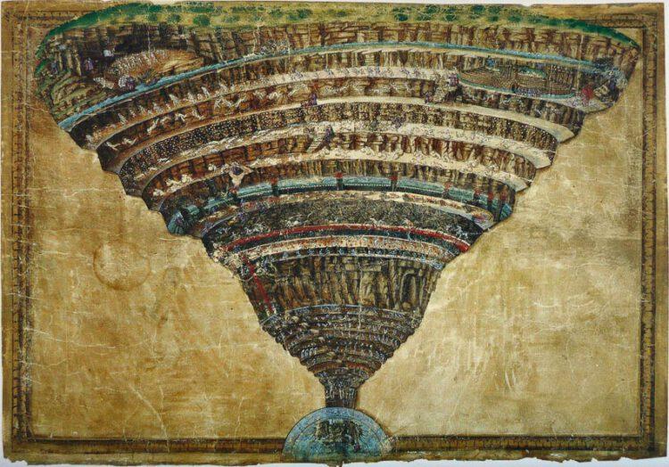 เดินทางตาม Dante ไปทัวร์นรกฝรั่งทรงกรวยในวรรณคดีเอกของอิตาลี