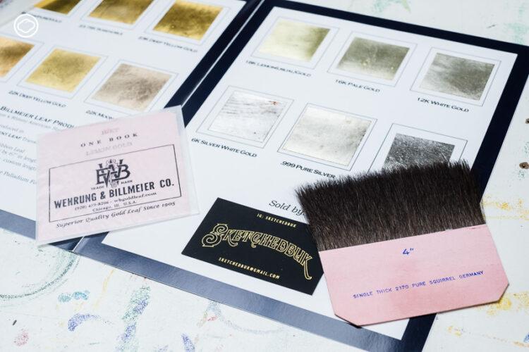 บึก-สุชาล ฉวีวรรณ ดีไซเนอร์ที่นำวิชาปิดทองแบบฝรั่ง มาใช้ออกแบบป้ายไทย, Glass Gilding, ปิดทองบนกระจก