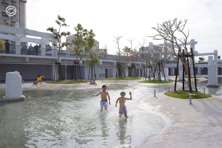 เปลี่ยนห้างเก่าในไต้หวันเป็น Tainan Spring สวนน้ำกลางแจ้งที่แก้รถติดและเชื่อมโยงคนทุกวัย