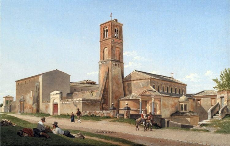 สันนิษฐานว่าสร้างบนหลุมฝังศพของคริสตชนสมัยโรมัน