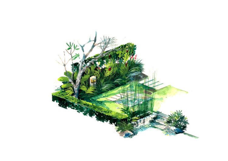 สุริยะ อัมพันศิริรัตน์ สถาปนิก Walllasia  ศิลปิน และนักจัดสวน ผู้พากุฏิไทยไปไกลถึงอังกฤษและฝรั่งเศส