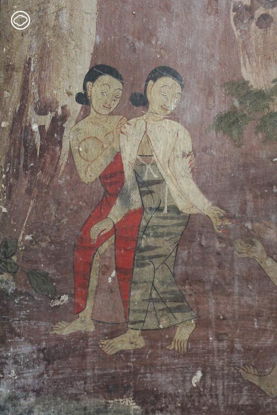 ความ Inter ในวัดไทย เมื่อชาวหรูชปีตะสบาก สาวใส่ฮันบก คนแอฟริกา เดินทางมาอยู่บนฝาผนัง, จิตรกรรมฝาผนัง