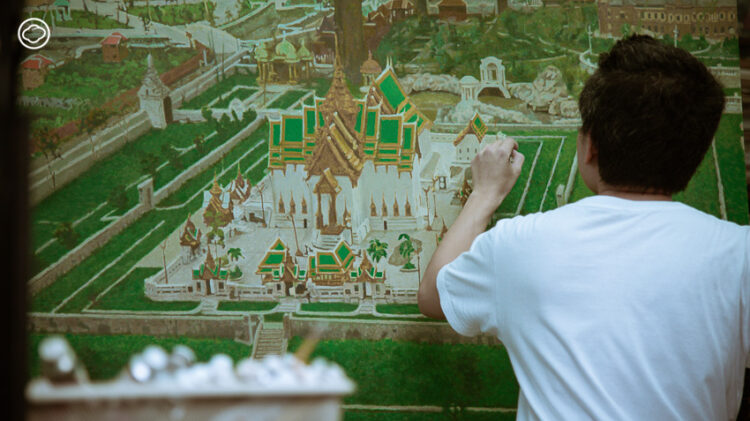 'ดุสิตธานี' งานศิลปะจากความฝันที่ไม่สมบูรณ์ของไทยโดย ประทีป สุธาทองไทย ใน BAB 2020