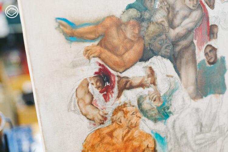 อามานี่-ดาเนียล พี่น้องจิตรกรเด็กแห่งภูเก็ตที่ฝีมือเข้าตา อ.เฉลิมชัย จนรับเป็นศิษย์