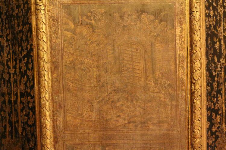 ลายแทง 5+1 วัดไทย ที่ตกแต่งด้วยศิลปะจีนลายสามก๊ก