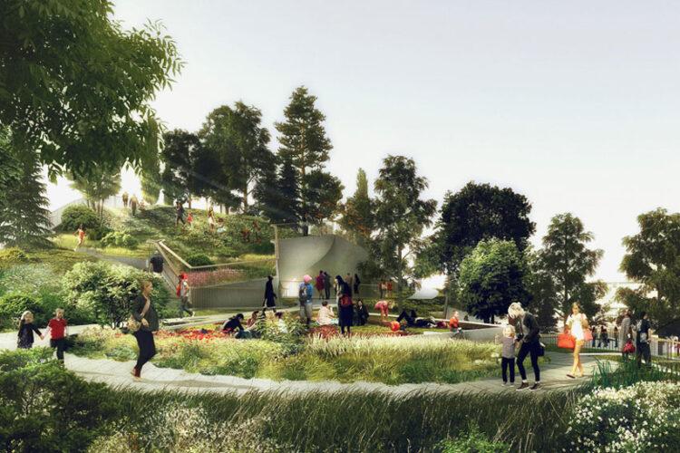 Little Island เปลี่ยนซากท่าเรืออับโชค เป็นสวนสาธารณะลอยน้ำแห่งมหานครนิวยอร์ก