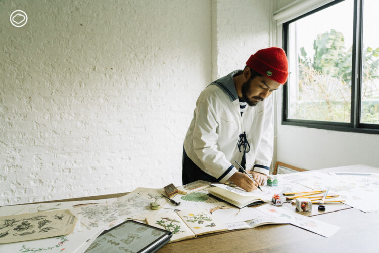 Junejirapart เด็กชายผู้หลงใหลภาพเก่าในหนังสือคุณตา สู่ศิลปินลายเส้นวินเทจนักรีแบรนดิ้ง