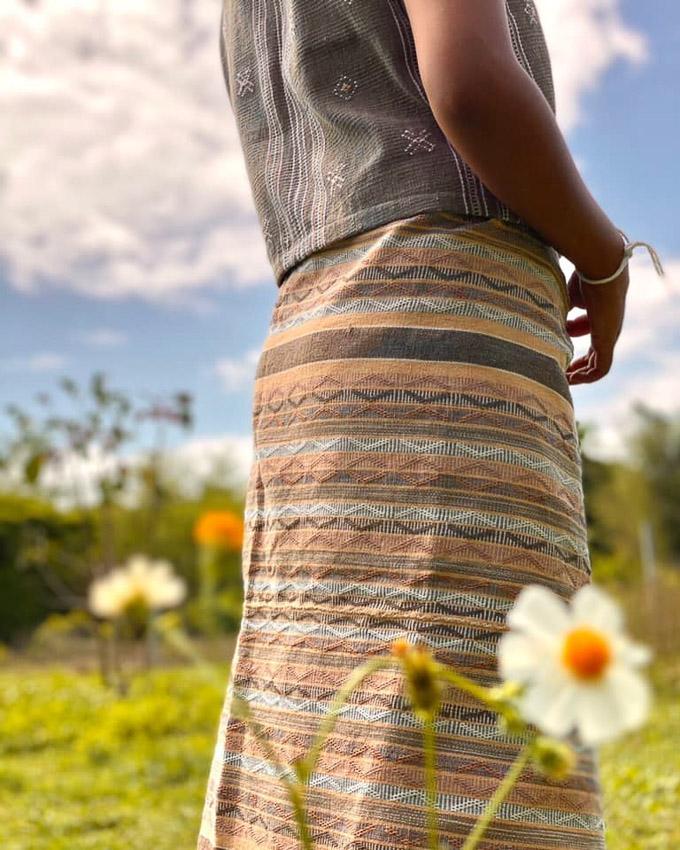 ผ้าทอพื้นเมืองชาวกะเหรี่ยงโผล่ง ของฝากจากเมืองเจียงใหม่