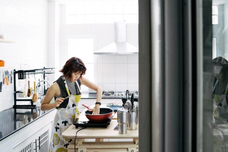 บ้านของแพร พิมพ์ลดา แห่ง PEAR is hungry ที่มีครัวเป็นห้องเรียนรู้