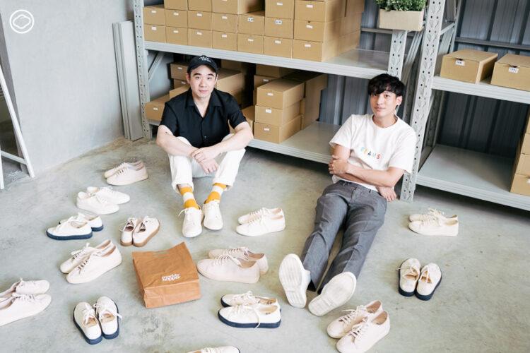 แบรนด์รองเท้าจากวัสดุเป็นมิตรต่อสิ่งแวดล้อมแทบทุกส่วน ของสองเพื่อนซี้ที่อยากให้รองเท้ารักษ์โลกได้