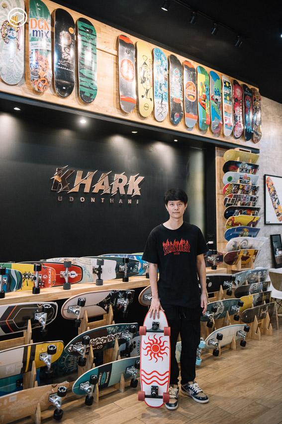 Khark Skateboards ร้านสเก็ตบอร์ดที่รวบรวมคนเล่นกีฬาแผ่นไม้ติดล้อในจังหวัด สู่การจัดงานสเก็ตบอร์ดประจำปี