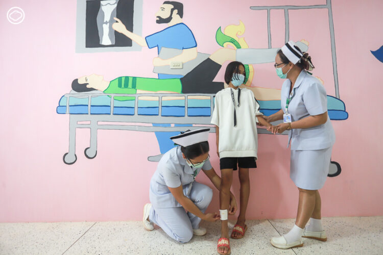 ศิลปะบำบัดในโรงพยาบาลโซ่พิสัย
