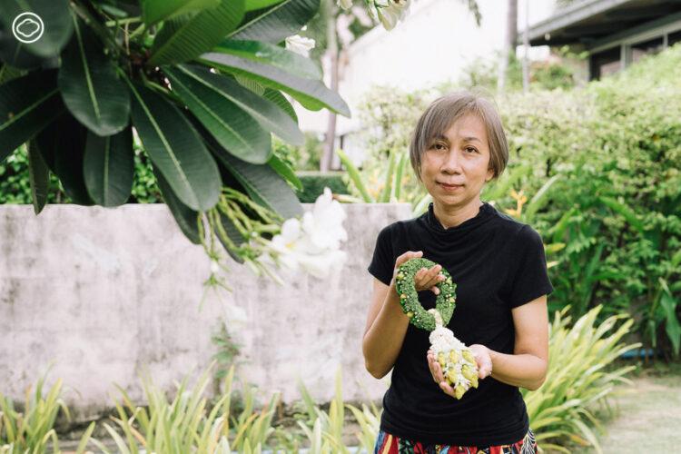 ร้อยเรียบ : เพจรวมผลงานมาลัยที่ร้อยจากพันธุ์ไม้รอบตัว ทั้งดอกพุด กุยช่าย ถึงผักชีลาว