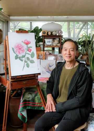 พันธุ์ศักดิ์ จักกะพาก พฤกษศิลปินไทยคนเดียวที่มีผลงานใน Shirley Sherwood Collection