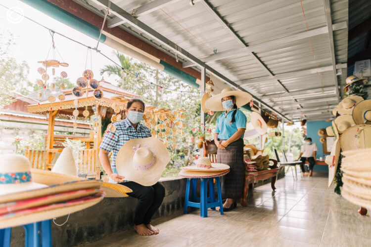 กลุ่มจักสานไม้ไผ่ บ้านคลองหมากนัด ,ชุมชนนักจักสานผู้พัฒนาจากเข่งปลาทูสู่วงการแฟชั่น